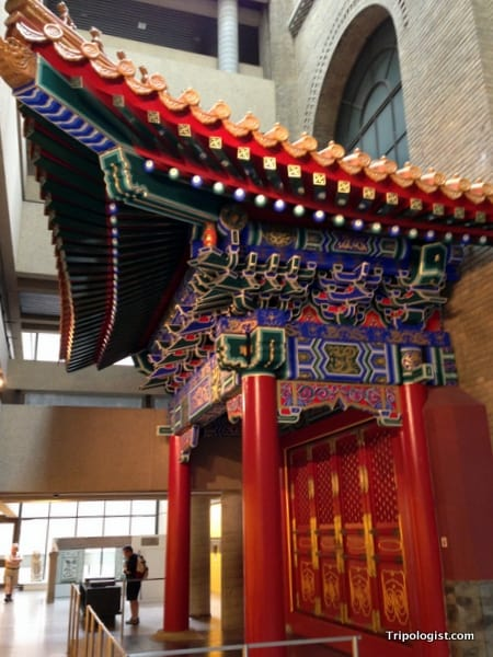 A Korean gate on display at the Royal Ontario Museum in Toronto, Canada.