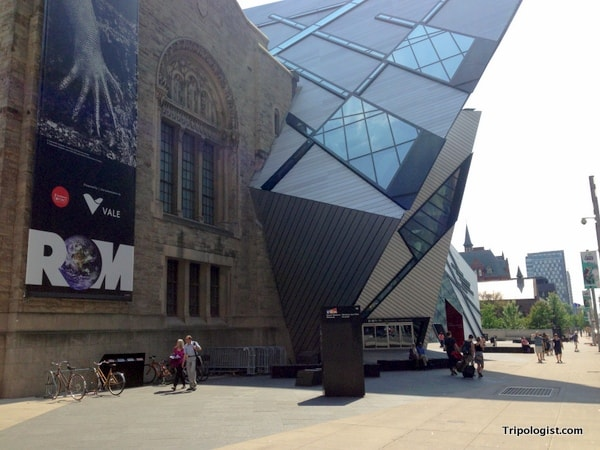 Visiting the Royal Ontario Museum in Toronto, Canada.