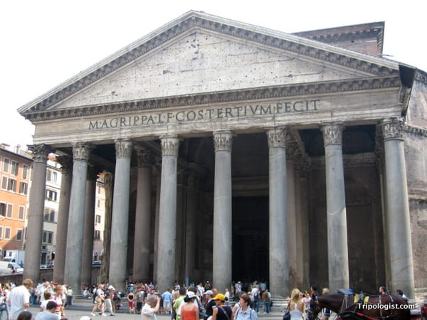 The Pantheon: Rome's best preserved ruin.