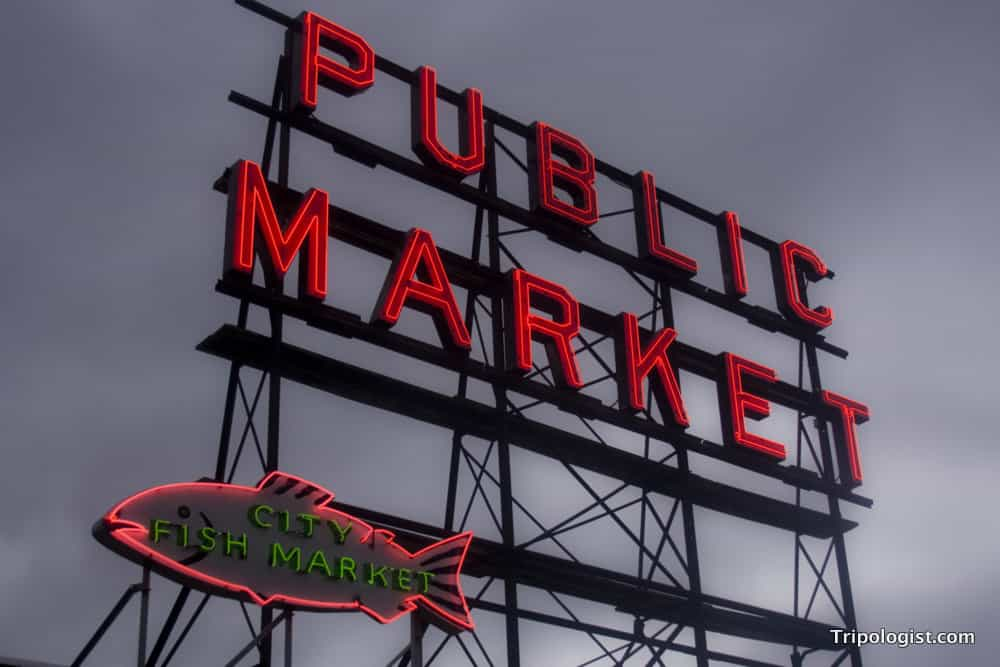 Visiting Pike Place Market in Seattle, Washington, USA.
