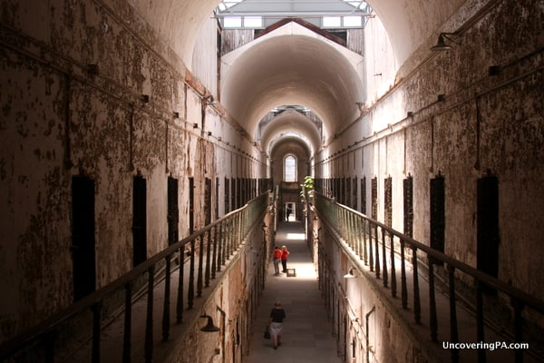 Visiting Eastern State Penitentiary in Philadelphia, Pennsylvania.