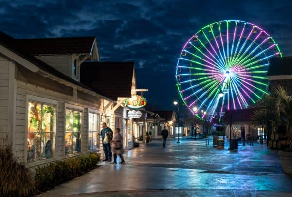 Broadway at the Beach in Myrtle Beach, South Carolina, in the winter