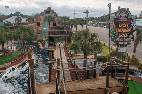 Putt-putt golf in Myrtle Beach in the winter