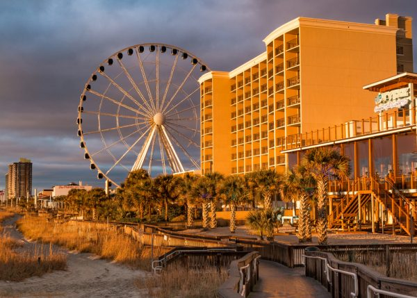 Riding the SkyWheel is a great thing to do in Myrtle Beach during the winter.