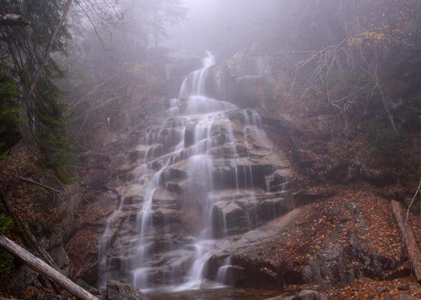 Cloudland Falls in Franconia Notch State Park, New Hampshire