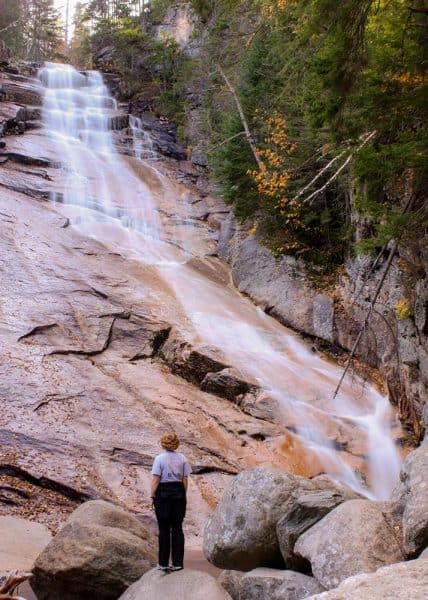 Ripley Falls is a beautiful White Mountain Waterfall