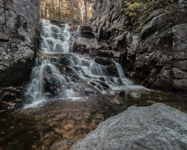 Rocky Glen Falls near the Appalachian Trail in New Hampshire