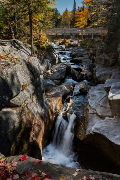 Upper Falls on Mount Washington in New Hampshire