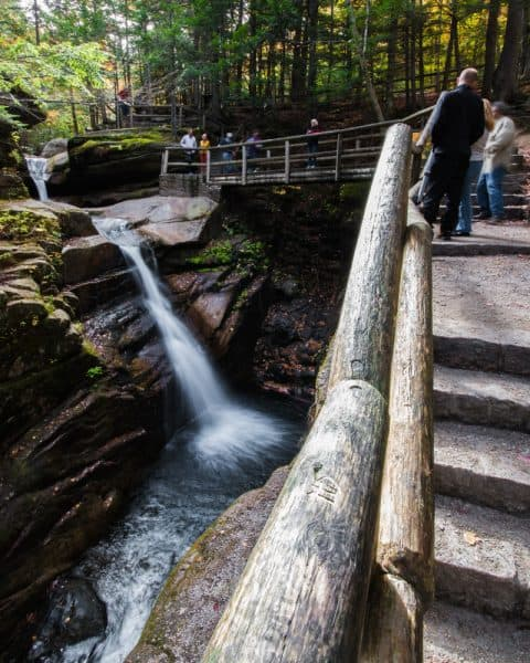 Sabbaday is a great waterfall in the White Mountain National Forest of New Hampshire